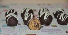 Cookie Dough Truffles Chocolate Chip  Balls Candy  Bonbons Gift Box  Wheat Free ! by PetitCookieShop on Etsy