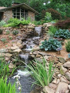Garden Ideas Waterfall Garden Design Extrerieur