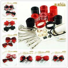# 8 Mix ручной материал комплект, Красные ленточки клипы и ленты комплект mix, Не включая с бантом