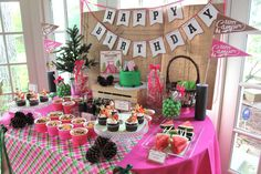 Camping / Summer Camp Birthday Party Ideas | Photo 1 of 25 | Catch My Party