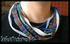 collana di stringhe di stoffa fatta a mano colori vari