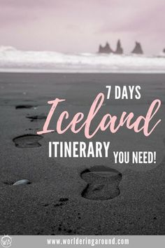 The best 7 days Iceland road trip itinerary with descriptions, pictures and maps, covering must-see sights in Iceland and off the beaten path locations. Iceland 7 days, Iceland road trip   Worldering Around #traveltips travel #Iceland #Icelandroadtrip #roadtrip #Icelanditinerary #itinerary #europe