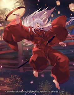 Inuyasha and the Japanese floating lanterns - Boys Love Manga Fans Amor Inuyasha, Inuyasha Fan Art, Inuyasha And Sesshomaru, Kagome And Inuyasha, Kagome Higurashi, Inuyasha Funny, Fanarts Anime, Manga Anime, Anime Art