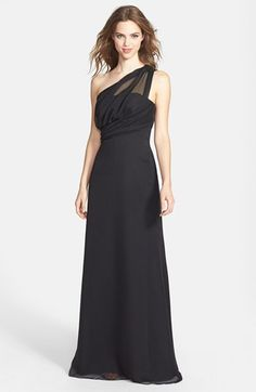 My wedding dress!!!!  Jim Hjelm Occasions One-Shoulder Chiffon Dress available at #Nordstrom
