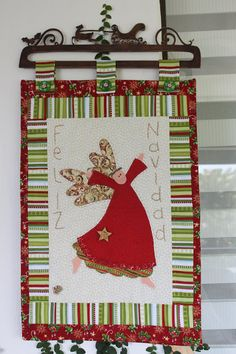Anni Downs, Panel, Snowflakes, Angeles, Quilting, Sewing, Heart, Christmas, Felt