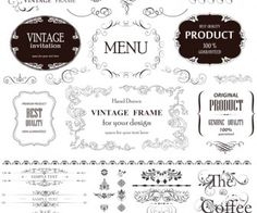Vintage frames and borders vector