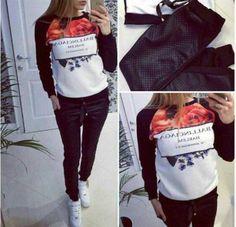 Barato 2015 2 peça conjuntos de moda de nova camisola das mulheres moleton feminino hoodies harajuku Fleece esporte terno, Compro Qualidade Moletons diretamente de fornecedores da China:                                                                 Tamanho          Hoodies          Pant         &nb