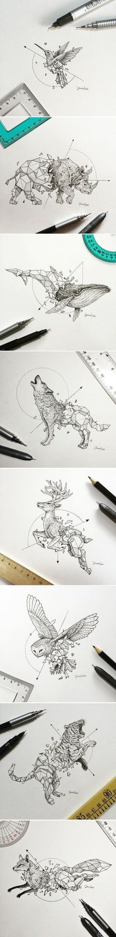 New Creative Tops Into The Wild Stag Animal Sketch Cotton Tea Towel Burgundy Red