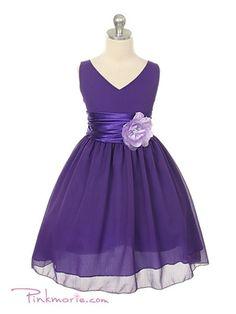 Purple Yoru Chiffon Flower Girl Dress. Flower girl dresses!
