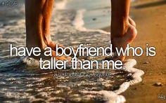 Bucket list: have a tall boyfriend. Bucket List For Girls, Bucket List Before I Die, Bucket List Life, Summer Bucket Lists, Teenage Bucket Lists, Tall Boyfriend, Boyfriend Bucket Lists, Perfect Boyfriend, Future Boyfriend