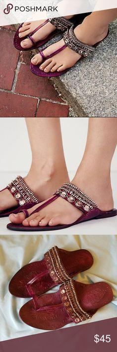 Free People Scorpio sandals Dark Red Free People Scorpio sandals. NWOT. Worn once. Free People Shoes Sandals