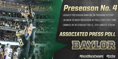 Baylor earns the highest preseason ranking in school history at No. 4 in @AP_Top25. #SicEm #YB