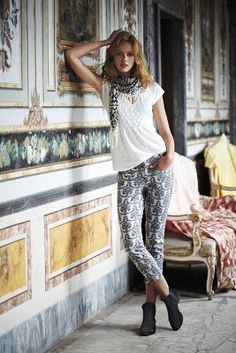 5d2af3e4d3c90 Brocade Charlie Trousers Blouse Outfit
