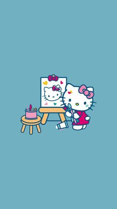 Hello Kitty Backgrounds, Hello Kitty Wallpaper, Hello Kitty Images, Wall Boxes, Sanrio Characters, Bart Simpson, Little Girls, Career, Snoopy