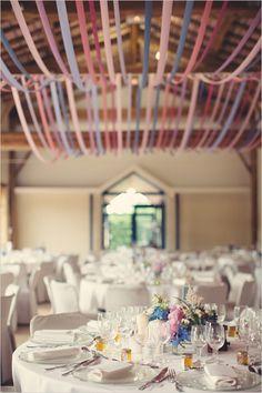 pink and blue wedding decor