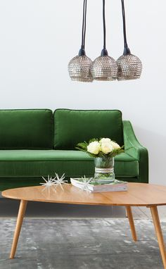 Winter green and holiday sparkle. The new MIRAGE sofa.