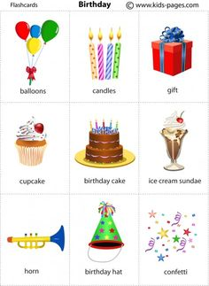 Kids Pages - Birthday