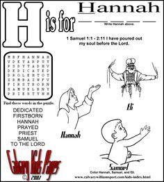 Hannah Gives Her Child to God (Story and Maze) - Kids Korner ...