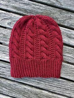 Gingerbread Hat By Angela Whisnant - Free Knitting Pattern - (ravelry) Bonnet Crochet, Crochet Beanie, Knit Or Crochet, Knitted Hats, Crochet Hats, Loom Knitting, Baby Knitting, Free Knitting, Baby Hat Knitting Pattern