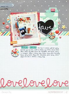 #papercrafting #scrapbook #layout 1 photo + papers