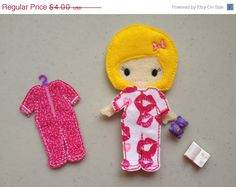 ON SALE NOW Abigail Ith Felt Dress Up Doll by Bobbin4appliques