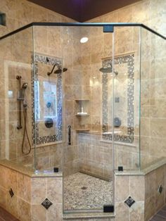Amazing New Bathroom Shower Design Master Bathroom Shower, Modern Bathroom, 1920s Bathroom, Corner Bathroom Vanity, Paris Bathroom, Bathroom Niche, Navy Bathroom, Bathroom Vinyl, Mermaid Bathroom