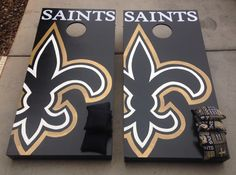 Saints cornhole boards