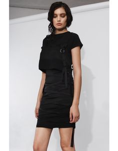 Available for delivery within two weeks Silk crop top with lingerie inspired straps. High Neck Dress, Feminine, Spring Summer, Lingerie, Crop Tops, Silk, Skirts, How To Wear, Collection