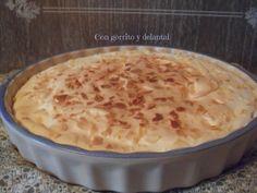 CON GORRITO Y DELANTAL: Tarta de bienmesabe rondeño