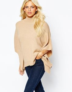 Image 1 of Oasis High Neck Poncho