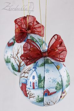 На жёрдочке: Парад шаров :) / Kimekomi Christmas Ornaments