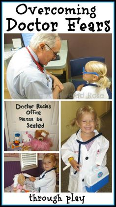 LOTS of ideas and tips for helping little ones overcome their fear of the doctor and make it a FUN experience!