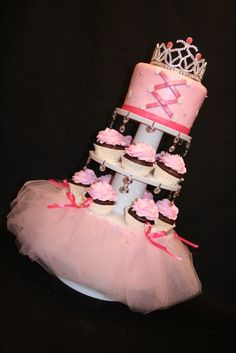Ballet cake and cupcakes