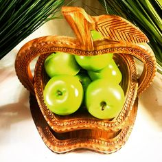 Apple Collapsible Wooden Basket