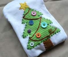 Applique Christmas Holiday Tree Onesie or Shirt You Pick Size and Colors www.ohmelisa.etsy.com
