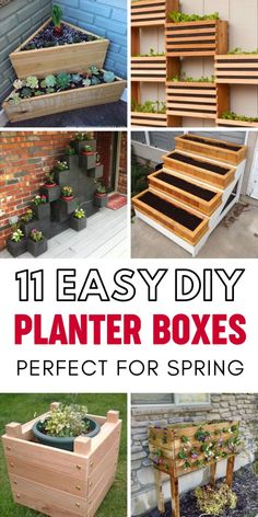 Are you looking for DIY Planter Box ideas to make this spring? Here are 11 easy DIY Planter Box Ideas that are a perfect way to spruce up your outdoor space. Whether you're looking to plant flowers or vegetables these fun DIY Planter Box ideas are a fun a Recycled Planters, Diy Cement Planters, Wood Pallet Planters, Herb Planters, Outdoor Planters, Fall Planters, Succulent Wall Planter, Diy Planter Box, Planter Ideas