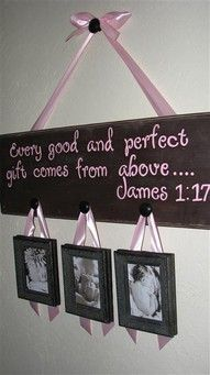 """I absolutely adore this bible verse when it comes to babies. What a cute way to incorporate the verse in with precious photos of your new little one. This would look perfect over the crib or maybe the dresser. Love everything about this!"""" data-componentType=""""MODAL_PIN"""