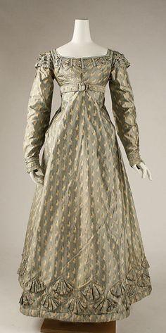 1820 via The Costume Institute of the Metropolitan Museum of Art 1800s Fashion, 19th Century Fashion, Fashion Mode, Moda Fashion, Victorian Fashion, Vintage Fashion, 18th Century, Club Fashion, 50 Fashion