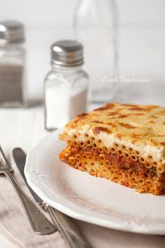 Vegetarian Pastitsio (Greek pasta bake)