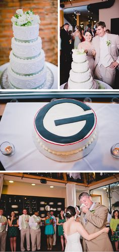 Had to pin the top of this Groom's cake. It's all about the G for one of our staff members!  pink-and-green-romantic-georgia-wedding-7