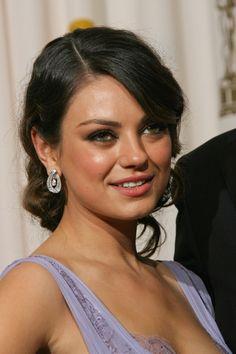 Mila Kunis gorgeous, brunette hairstyle