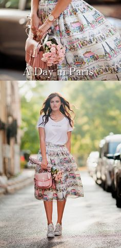A Day in Paris Skirt chicwish.com @tiebow-tie
