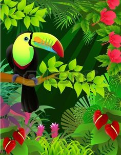 """Toucan Bird in the Jungle"" by Surya Zaidan."