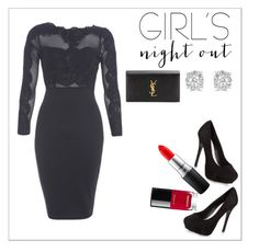 """""""Girls night out"""" by thatgirlwholovesit on Polyvore featuring AX Paris, New Look, Yves Saint Laurent, Effy Jewelry, MAC Cosmetics and Chanel"""