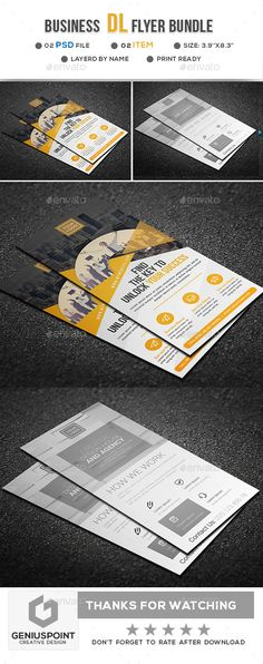 Buy Business DL Flyer Bundle by GeniusPoint on GraphicRiver. Features: Easy Customizable and Editable Print size: inches Final size: inches CMYK Color Design in. Creative Flyer Design, Creative Flyers, Indesign Templates, Print Templates, Board Game Design, Flyer Printing, Business Flyer, Flyer Template, Green Landscape