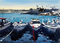 Quarteira harbour, Algarve Portugal by Tim Wilmot