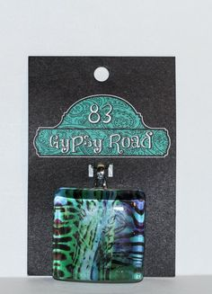 MS 38  Glass Pendant  Animal Print Abstract by 83GypsyRoad on Etsy