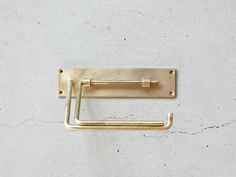 Rakuten Chiba Kousakusho PAPER HOLDER Interior toilet paper holder [brass / iron / stainless steel / simple / Chiba Kousakusho Giff easy packaging _]: MERCATO