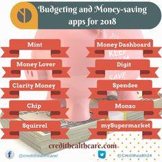 Budgeting and Money Saving Apps for 2018     #budgetingapps #moneysavingappa #financeapp #personalfinance #moneysaving #androidapps #iPhoeapps #budgetingapps