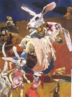 War ( 2003 ) by Paula Rego: rabbit death apparently a meaningful subject for Rego and her art...